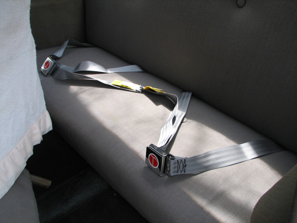 Completed rear seat belts