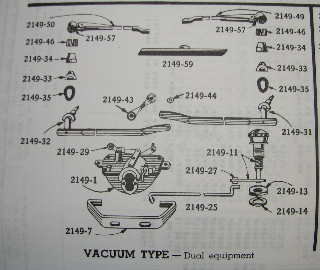 Windshield Wipers 1941 Studebaker Champion Engine Diagrams You Can See The Single Wiper System Has Motor Driving Arm Directly While Dual Uses One Central With A Transmission