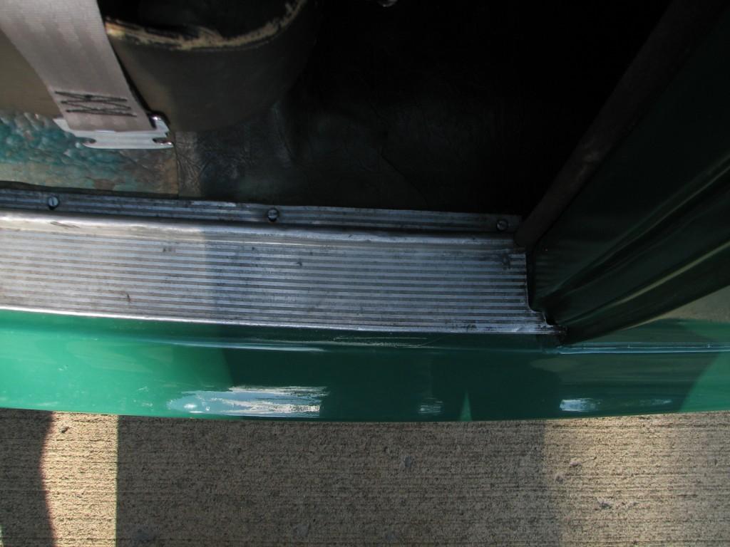 Screws installed in the door sills